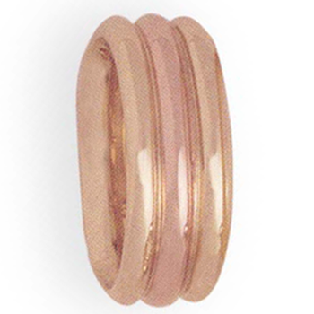 8mm 4T70 Ladies Two-Tone Wedding Band