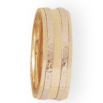 8mm 5T26 Ladies Two-Tone Wedding Band