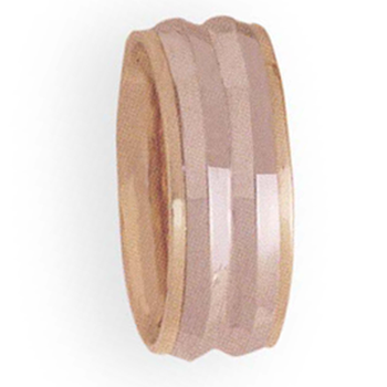 8mm 4T38 LadiesTwo-Tone Wedding Band