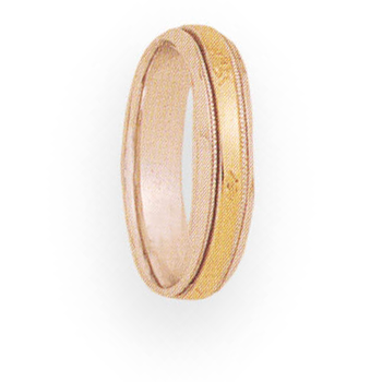 5mm 4T91 Ladies Two-Tone Wedding Band