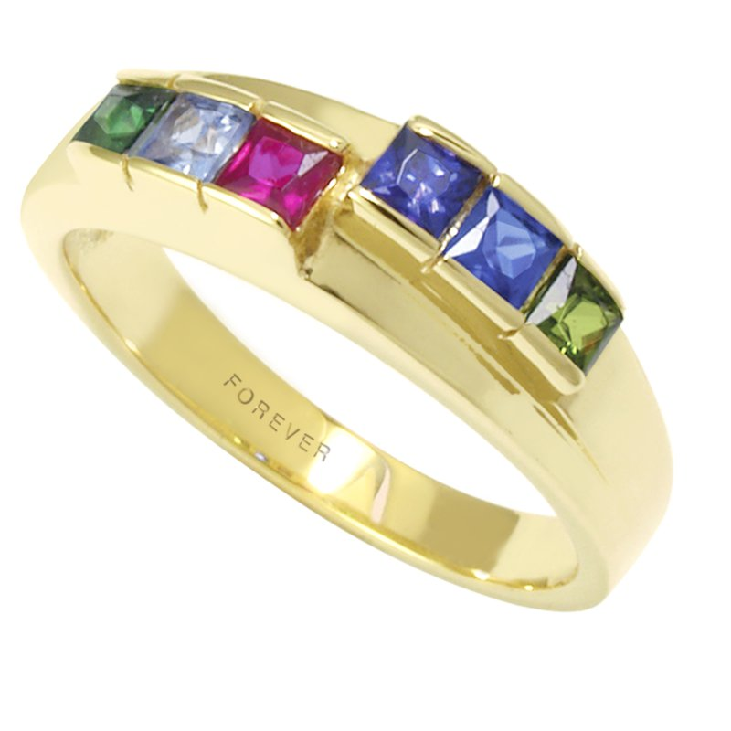 Cadmans FAMILY RING SET WITH PRINCESS-CUT STONES