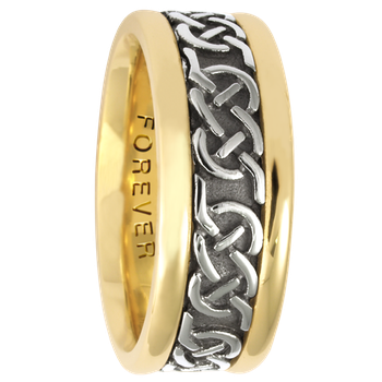 7.5mm 5316 Ladies Celtic Wedding Band