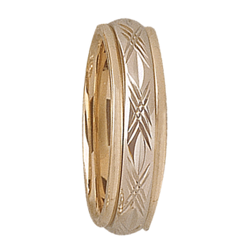 5mm D4T95 Ladies Two-Tone Wedding Band