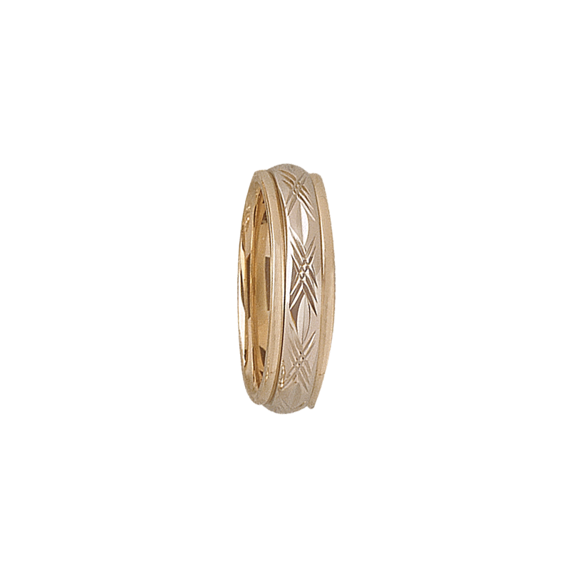 Cadman Catalog 5mm D4T95 Ladies Two-Tone Wedding Band