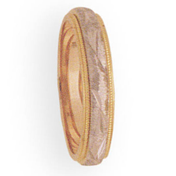 4mm 3T29 Ladies Two-tone Wedding Band
