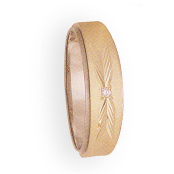 7mm 788D Mens Two-Tone Tapered Wedding Band