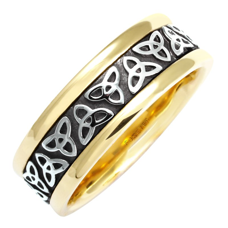 Cadmans MENS CELTIC TRINITY KNOT WEDDING BAND