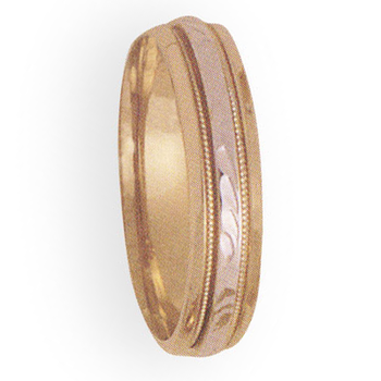 5mm 4T61 Ladies Two Tone Wedding Band