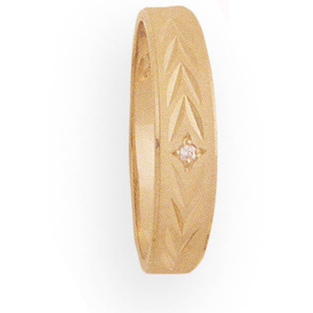 6mm 776D Mens Tapered Wedding Band