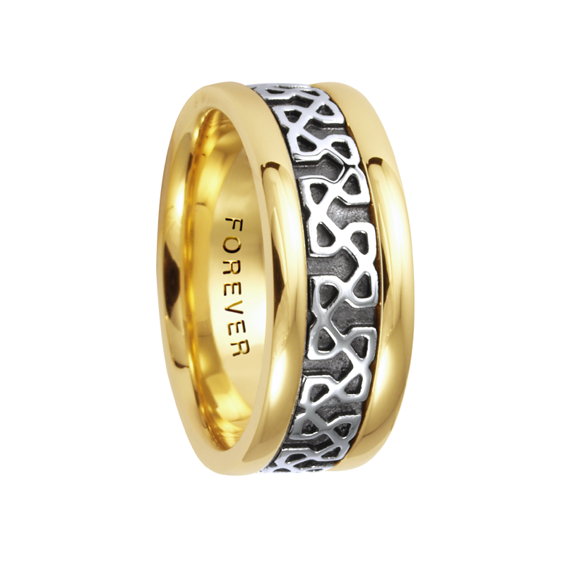 Cadman Catalog 7.5mm 5420 Mens Celtic Wedding Band