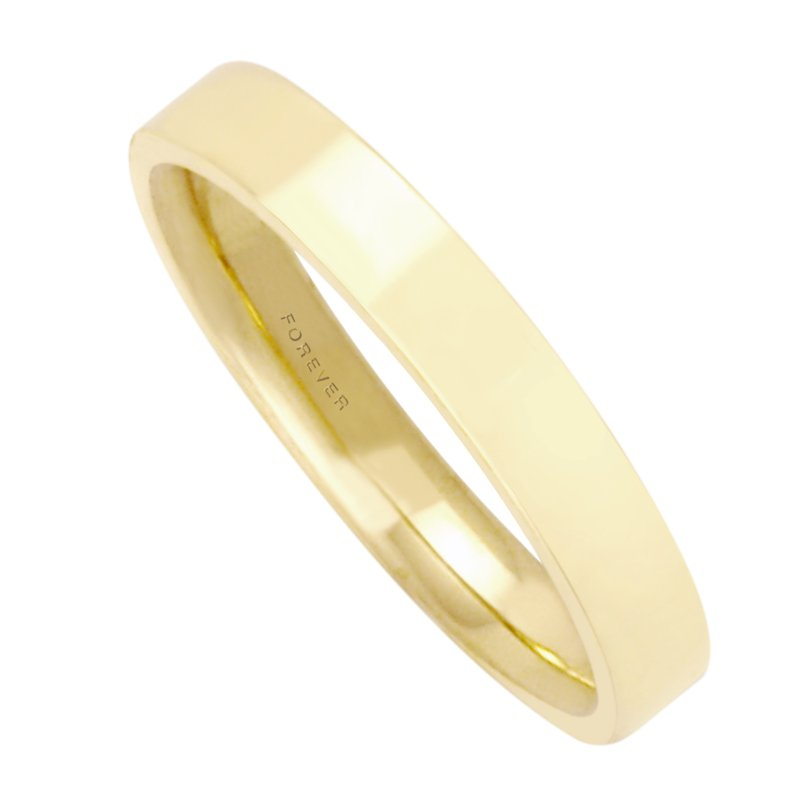 Cadmans MENS RECTANGULAR COMFORT CURVE WEDDING BAND