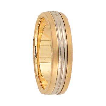 5mm 6T47 Ladies Two-Tone  Wedding Band