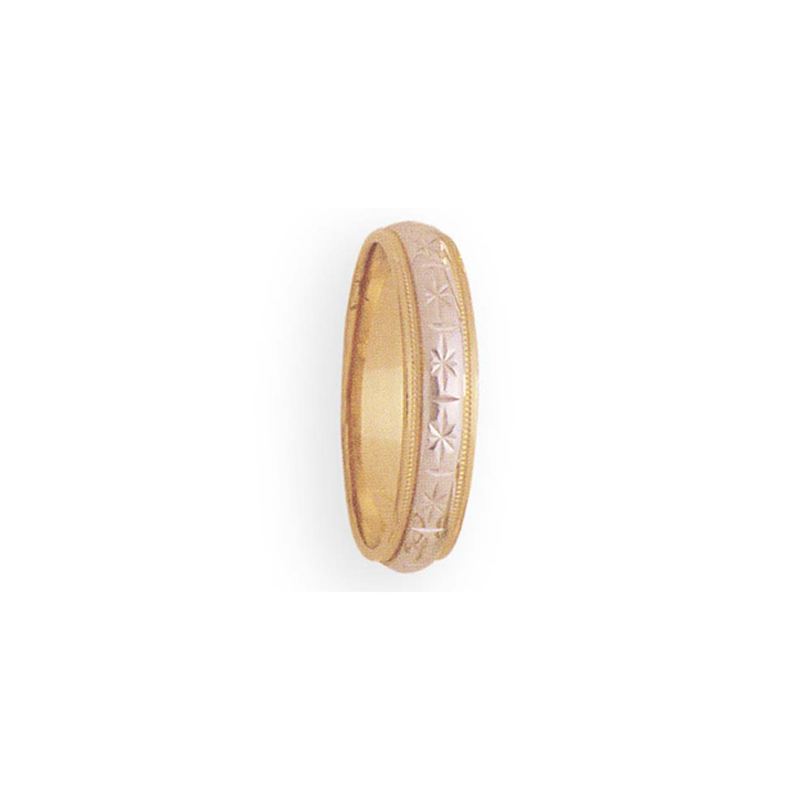 Cadman Catalog 5mm 2T44 Mens wo-Tone Wedding Band