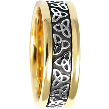 7.5mm 5414 Mens Celtic Wedding Band