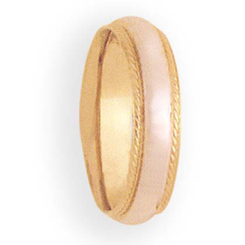 6mm 6T01A  Ladies Two-Tone Wedding Band