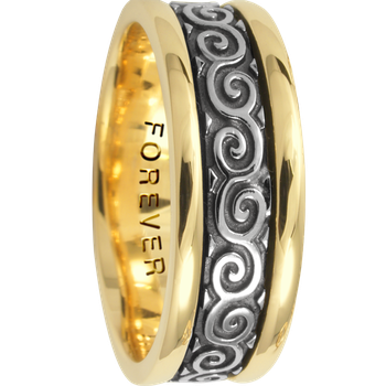 7.5mm 5424 Mens Celtic Wedding Band