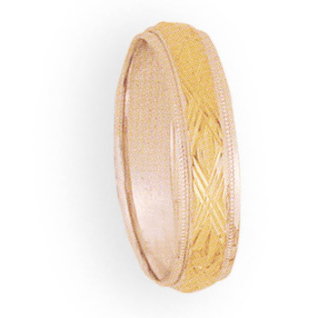 6mm 4T94 Mens Two-Tone  Wedding Band