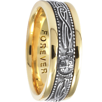 7.5mm 5462 Mens Celtic Wedding Band