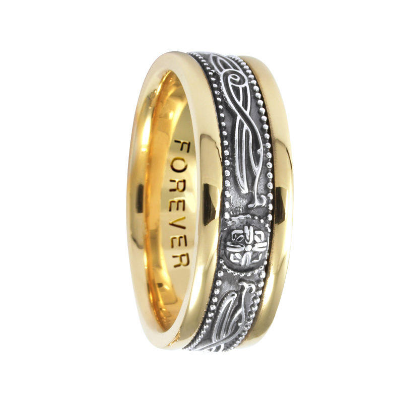 Cadman Catalog 7.5mm 5462 Mens Celtic Wedding Band