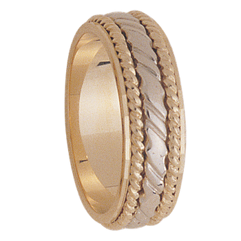 7mm 5124 Mens Two Tone Wedding Band