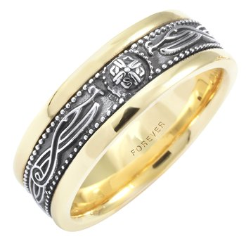MENS CELTIC WARRIORS WEDDING BAND