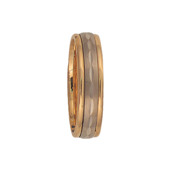 6mm 6T04 Mens Two-Tone Wedding Band