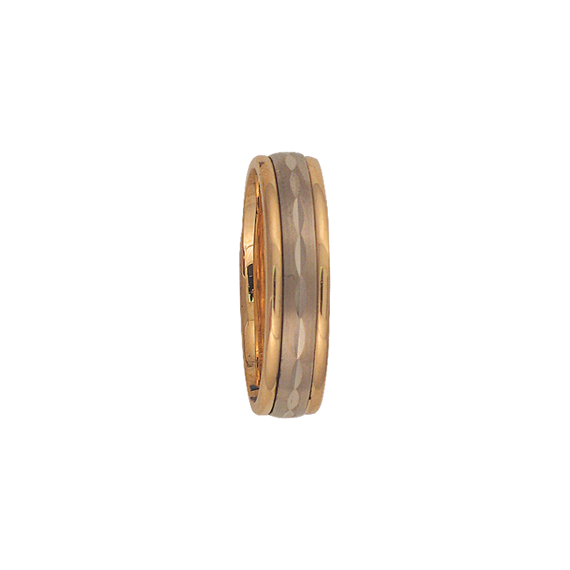 Cadman Catalog 6mm 6T04 Mens Two-Tone Wedding Band