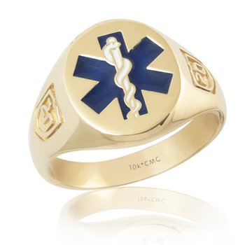 PARAMEDIC DATED 10K GOLD RING