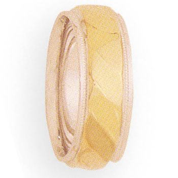 8mm 4T82 Ladies Two-Tone Wedding Band
