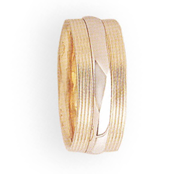 7mm 5T20 Ladies Two-Tone Wedding Band