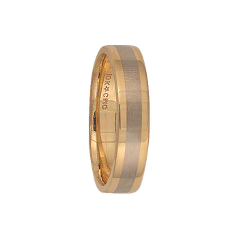 5mm 5T84 Mens Two-Tone Wedding Band