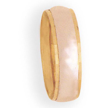 7mm 7t01C Mens Two-Tone Wedding Band