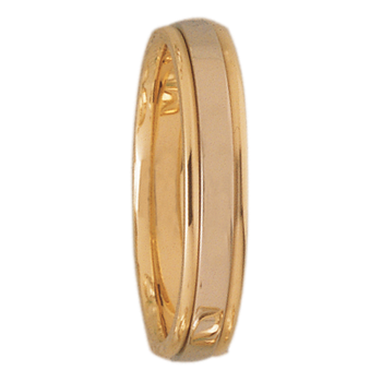4mm DF4T01 Mens Two-Tone Comfort Curve Wedding Band