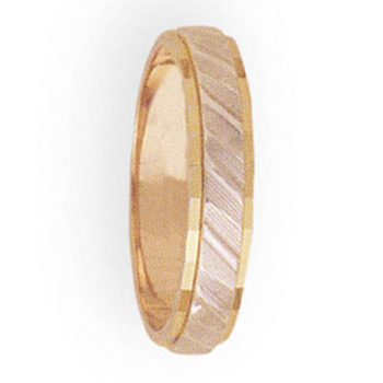 4mm 3T31 Ladies Two-Tone Wedding Band
