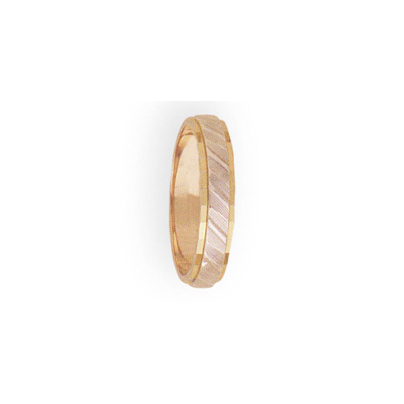 Cadman Catalog 4mm 3T31 Ladies Two-Tone Wedding Band