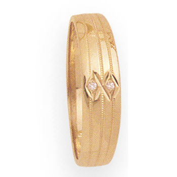 6mm 266D Mens Tapered Wedding Band