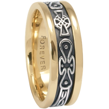7.5mm 5474 Mens Celtic Wedding Band
