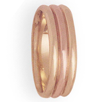 8mm 4T70 Mens Two-Tone Wedding Band