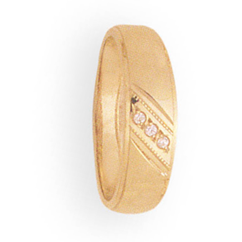 6mm 9P46 Ladies Tapered Wedding Band