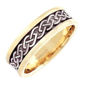 7.5mm 5296 Mens Celtic Link Wedding Band