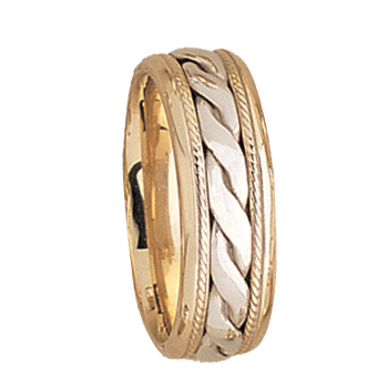 7.5mm 5518 Mens Two Tone Wedding Band
