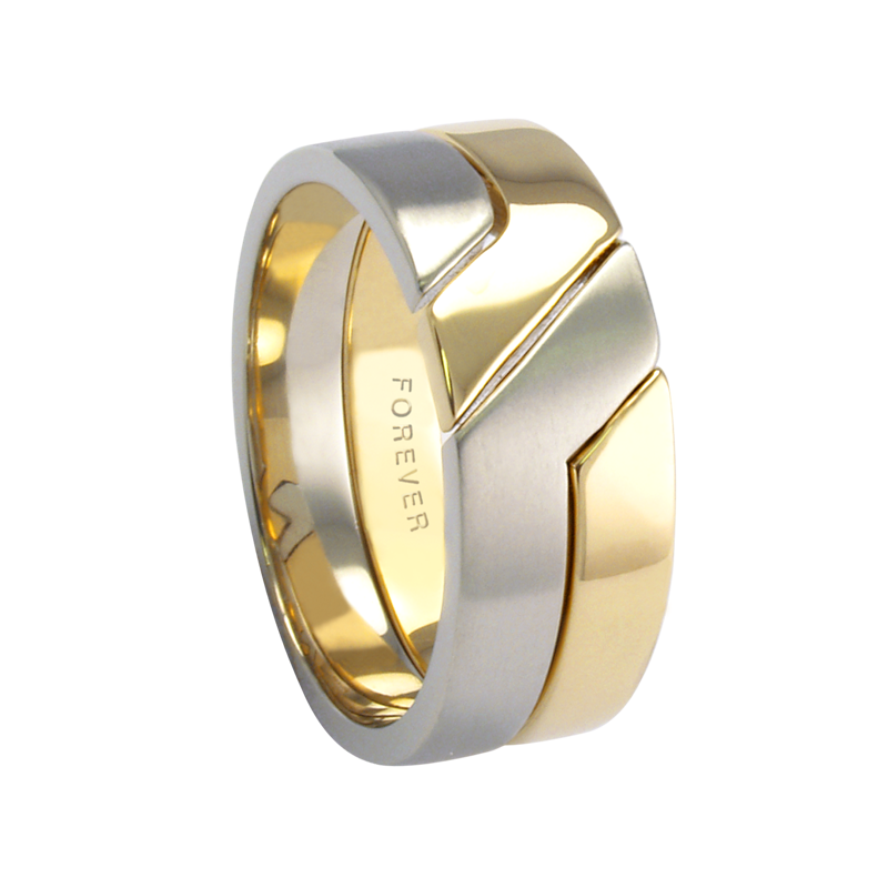 Cadman Catalog 9mm 5776 Mens Two Tone Wedding Band