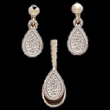 Earring & Pendant ED28
