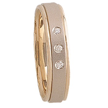 5mm 5T74 Mens Two-Tone Wedding Band