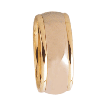 8mm D8T01 Ladies Two-Tone Comfort Curve Wedding Band