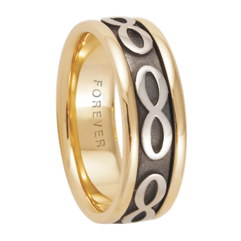 7.5mm 5580 Ladies Two Tone Wedding Band