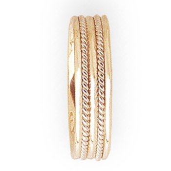 6mm 5T22 Mens Two-Tone Wedding Band