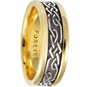 7.5mm 5468 Mens Celtic Wedding Band