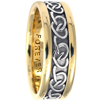 7.5mm 5426 Mens Celtic Wedding Band