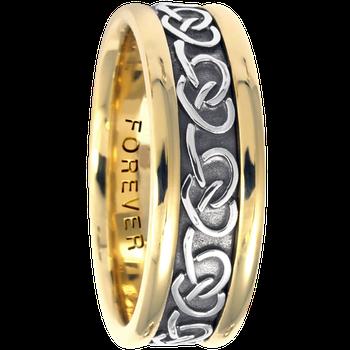7.5mm 5426 Mens Celtic Wedding Band